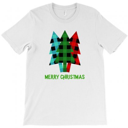 Merry Christmas Plaid Pattern For Light T-shirt Designed By Hasret