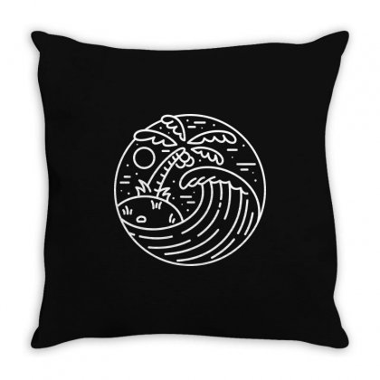 Best Wave (for Dark) Throw Pillow Designed By Quilimo