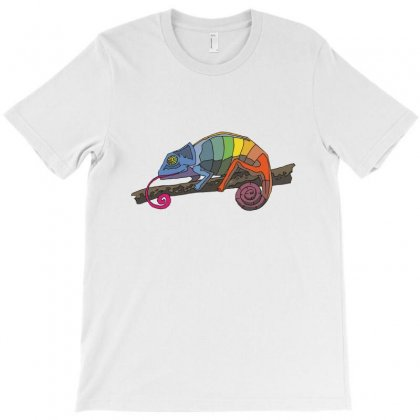 Colored Chameleon T-shirt Designed By Zein
