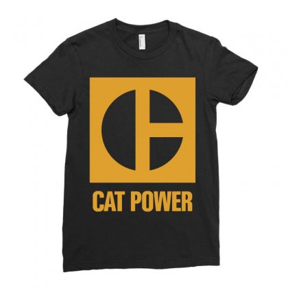 Cat Power Ladies Fitted T-shirt Designed By Giziara
