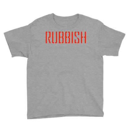 Rubbish Logo Youth Tee Designed By Bluebubble