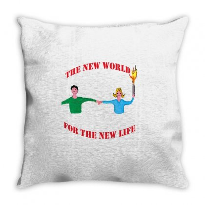 The New World Throw Pillow Designed By Nad