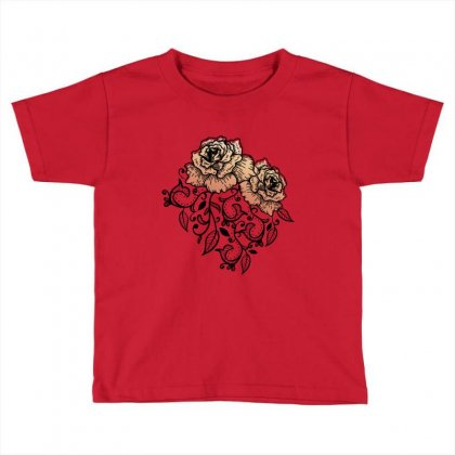Paisley Toddler T-shirt Designed By D'metra