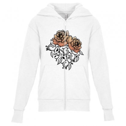 Paisley Youth Zipper Hoodie Designed By D'metra
