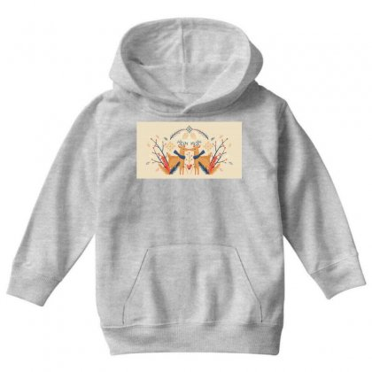 Reindeers Youth Hoodie Designed By D'metra