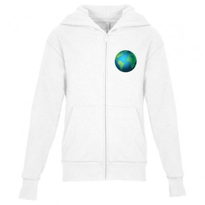 Earth Youth Zipper Hoodie Designed By Bluemary
