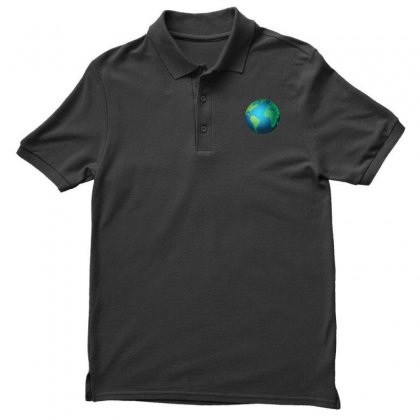 Earth Men's Polo Shirt Designed By Bluemary