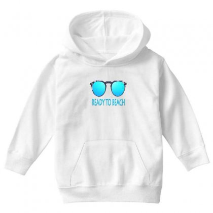 Ready To Beach Youth Hoodie Designed By Ran Studio