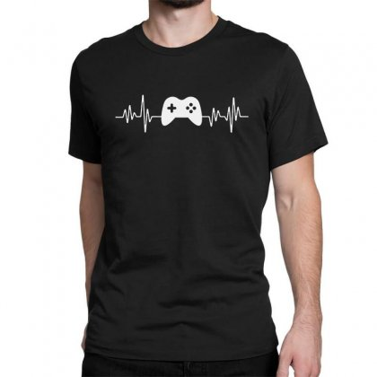 Gamer Heartbeat Classic T-shirt Designed By Creative Tees