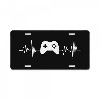 Gamer Heartbeat License Plate Designed By Creative Tees