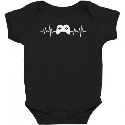 Gamer Heartbeat Baby Bodysuit Designed By Creative Tees