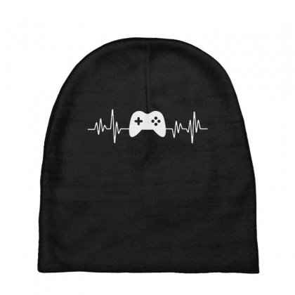 Gamer Heartbeat Baby Beanies Designed By Creative Tees