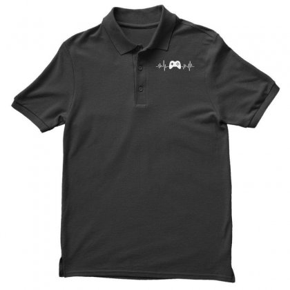 Gamer Heartbeat Men's Polo Shirt Designed By Creative Tees