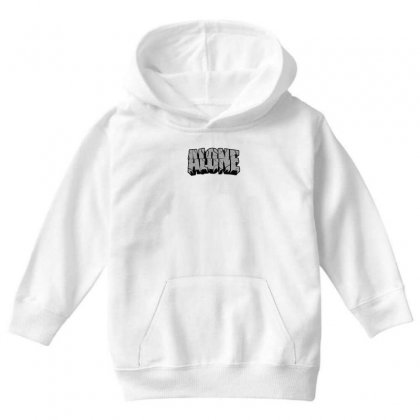 Alone Youth Hoodie Designed By Ran Studio