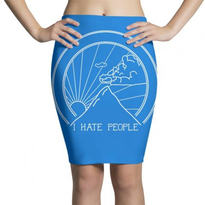 Hate People Merch Pencil Skirts Designed By Arum