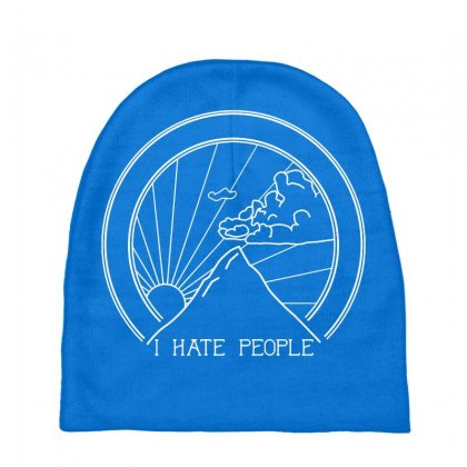 Hate People Merch Baby Beanies Designed By Arum