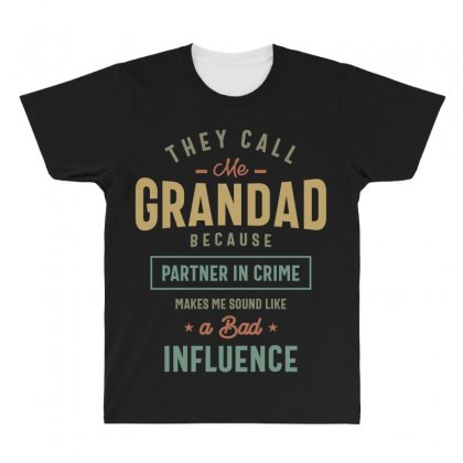 They Call Me Grandad T-shirt Gifts Father's Day For Men All Over Men's T-shirt Designed By Cidolopez