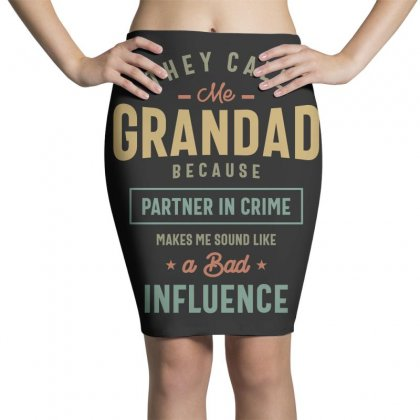 They Call Me Grandad T-shirt Gifts Father's Day For Men Pencil Skirts Designed By Cidolopez
