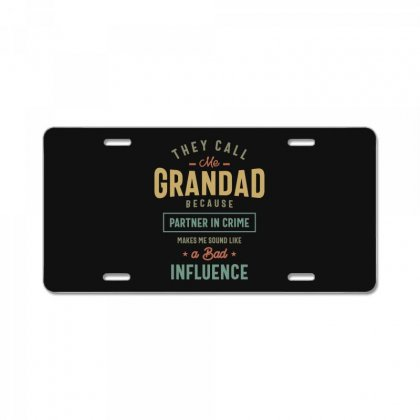 They Call Me Grandad T-shirt Gifts Father's Day For Men License Plate Designed By Cidolopez