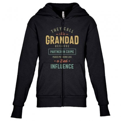 They Call Me Grandad T-shirt Gifts Father's Day For Men Youth Zipper Hoodie Designed By Cidolopez