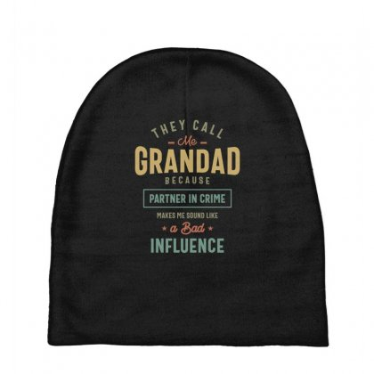 They Call Me Grandad T-shirt Gifts Father's Day For Men Baby Beanies Designed By Cidolopez