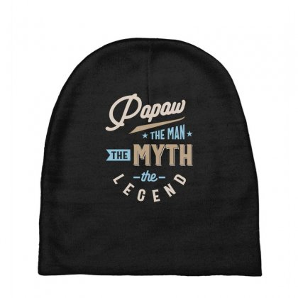 Mens Papaw The Man The Myth The Legend Father's Day Baby Beanies Designed By Cidolopez