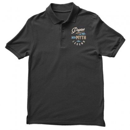 Mens Papaw The Man The Myth The Legend Father's Day Men's Polo Shirt Designed By Cidolopez