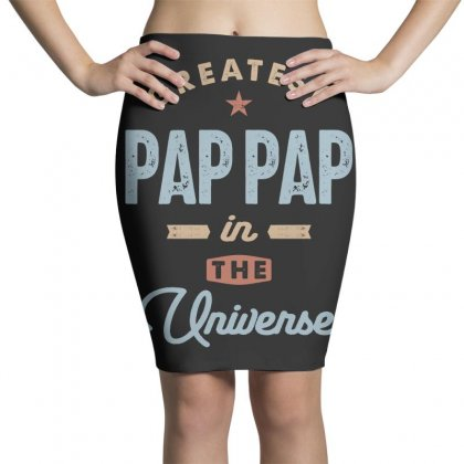 Mens World's Greatest Pap-pap Father's Day Gift Pencil Skirts Designed By Cidolopez