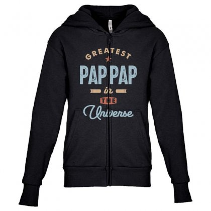 Mens World's Greatest Pap-pap Father's Day Gift Youth Zipper Hoodie Designed By Cidolopez