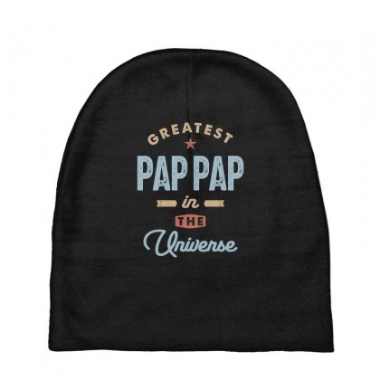 Mens World's Greatest Pap-pap Father's Day Gift Baby Beanies Designed By Cidolopez