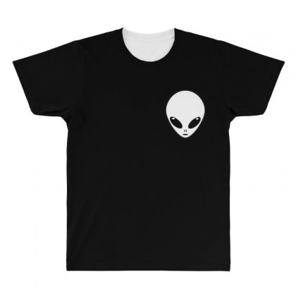 Alien All Over Men's T-shirt Designed By Bluemary