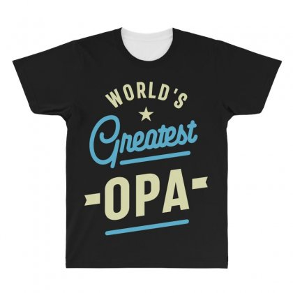 World's Greatest Opa Grandpa All Over Men's T-shirt Designed By Cidolopez