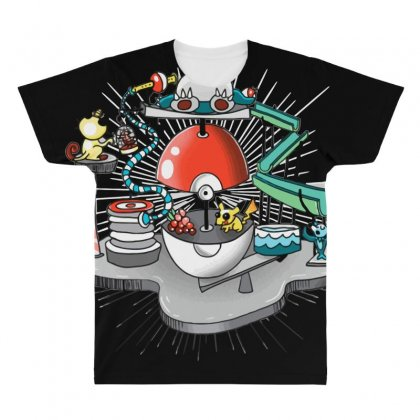 Poké Trap All Over Men's T-shirt Designed By Milaart