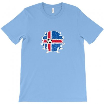 Iceland Football Logo T-shirt Designed By Arum