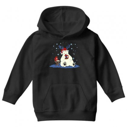 Polar Eggnog Youth Hoodie Designed By Milaart