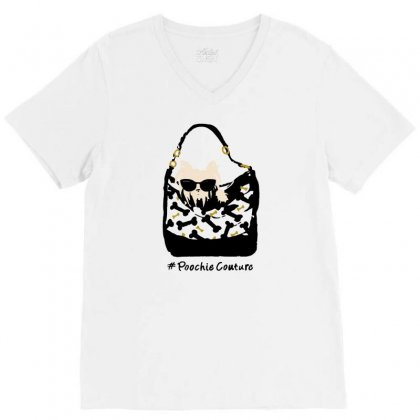 Poochie Couture V-neck Tee Designed By Milaart