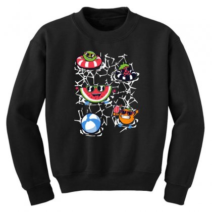 Pool Party Youth Sweatshirt Designed By Milaart