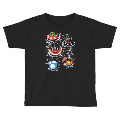 Pool Party Toddler T-shirt Designed By Milaart