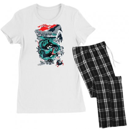 Positive Thinking Women's Pajamas Set Designed By Milaart