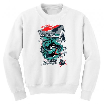 Positive Thinking Youth Sweatshirt Designed By Milaart