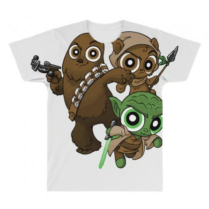 Power Critters All Over Men's T-shirt Designed By Milaart