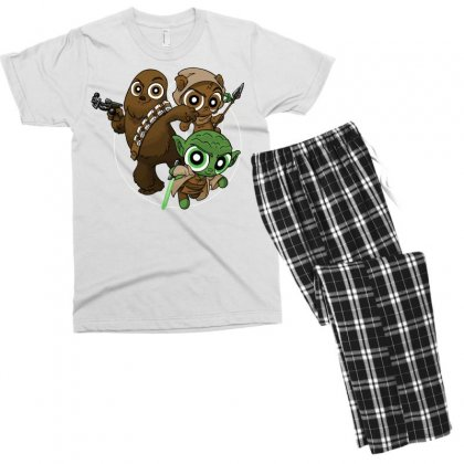 Power Critters Men's T-shirt Pajama Set Designed By Milaart