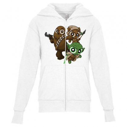Power Critters Youth Zipper Hoodie Designed By Milaart
