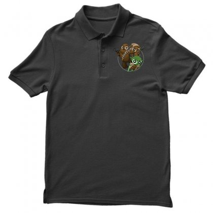 Power Critters Men's Polo Shirt Designed By Milaart