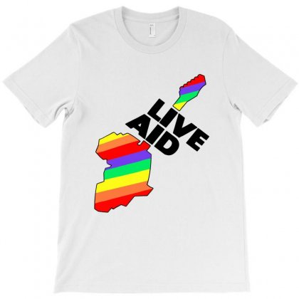 Live Aid Band Aid 1985 Symbol T-shirt Designed By Creative Tees