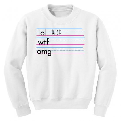 Practice Your Texting Youth Sweatshirt Designed By Milaart