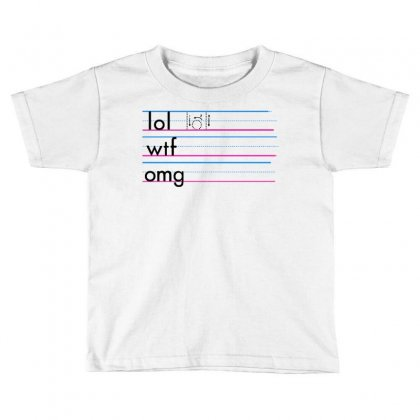 Practice Your Texting Toddler T-shirt Designed By Milaart