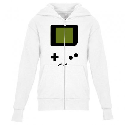 Press My Buttons Youth Zipper Hoodie Designed By Milaart