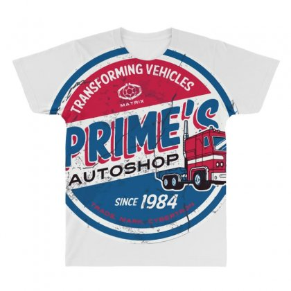 Prime's Autoshop All Over Men's T-shirt Designed By Milaart