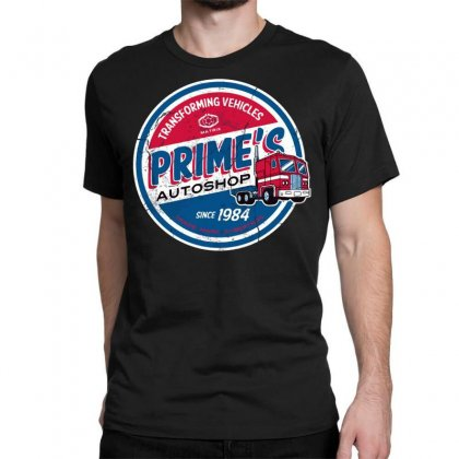 Prime's Autoshop Classic T-shirt Designed By Milaart